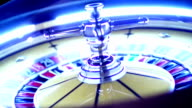 Roulette wheel spinning. video