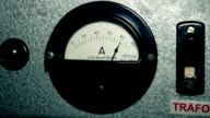 Round dial amp gauge electrical instrument video
