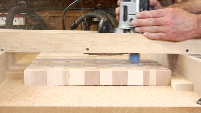 Routing a Cross Grain Board video