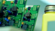 Row of Circuit boards in the storage video