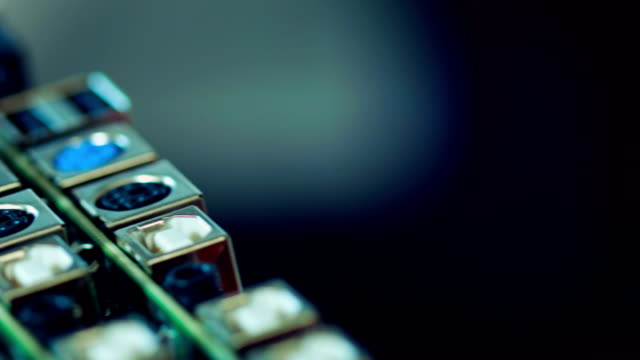 Row of circuit boards video