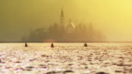 Rowers in the lake video