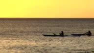 HD: Rowing across the sea video