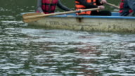 Rowing People with Lifejackets video