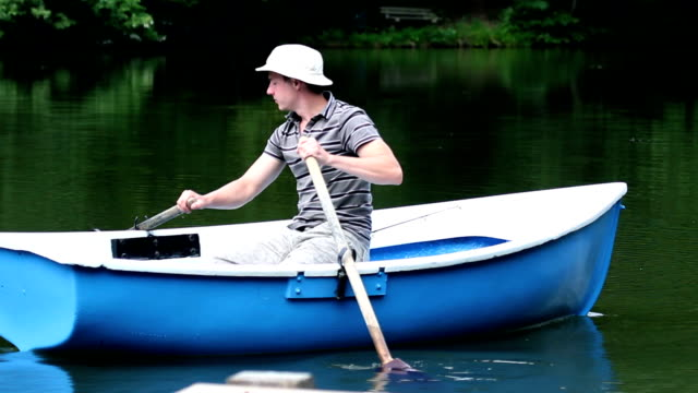 HD SLIDE SHOT: Rowing video