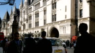 Royal Courts Of Justice In London The Strand video