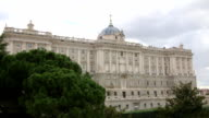 Royal Palace and Sabatini gardens in Madrid, Spain video