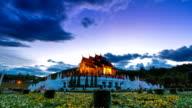 Royal Pavilion (Ho Kham Luang) In Royal Park Ratchaphruek Of Chiang Mai, Thailand (zoom in) video