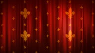 Royal red curtains video