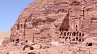 Royal Tombs - Petra, Jordan video
