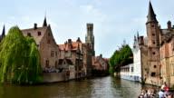 Rozenhoedkaai in Bruges, Belgium. Time Lapse Video. video