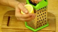 Rub the lemon zest video