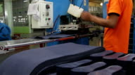 rubber sheet cutting manufacturing video
