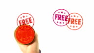 FREE rubber stamped on screen video