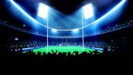 Rugby arena, stadium video