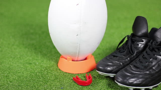 Rugby Ball and boots - HD & PAL video