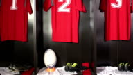 Rugby Locker / Changing / Dressing room - CRANE motion video