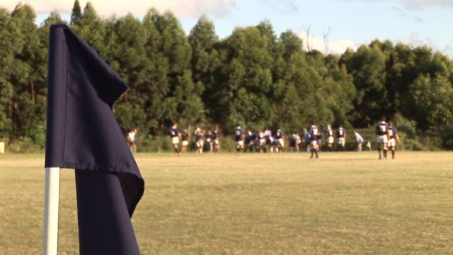 Rugby Match & Flag - HD & PAL video