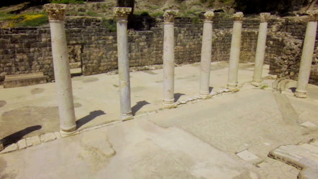 Ruined ancient columns video