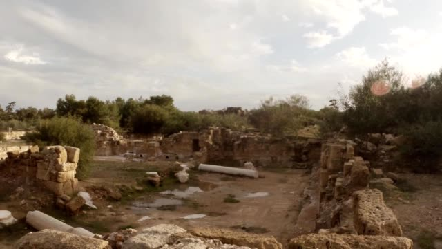 Ruins ancient town Salamis east Cyprus Famagusta video