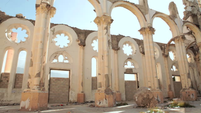 Ruins of a Cathedral Haiti video