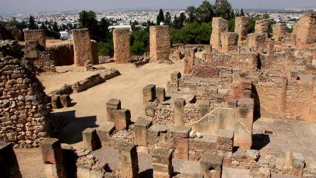 Ruins of ancient Carthage in Tunisia video