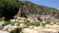 Ruins of ancient Greek-Roman amphitheatre. Myra old name - Demre, Turkey video