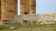 Ruins of ancient Roman empire palace, huge stone remains, tall marble columns video