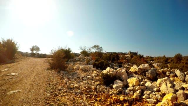 Ruins of antique city Adamkayalar road to figures Mersin Turkey video