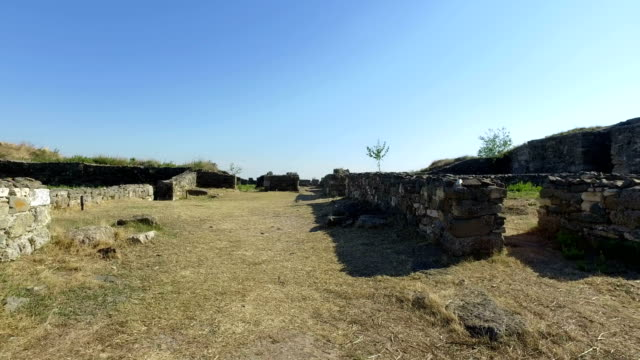 Ruins Of Histria Fortress Walking Footage video