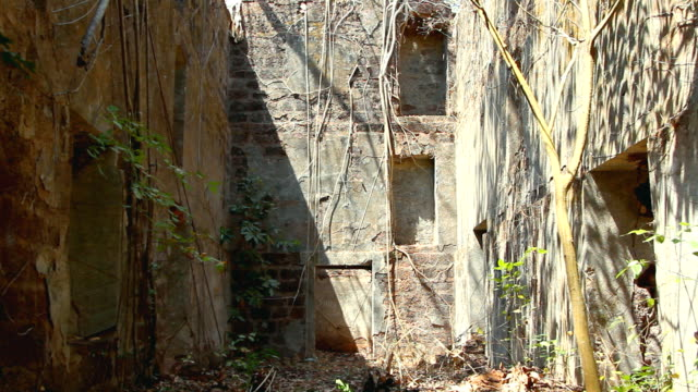 Ruins of Redi abandoned and ancient fort at summer day. video