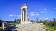 Ruins of temple of Apollo Hylates at Kourion, Limassol, Cyprus video