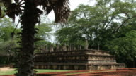 Ruins of the building in the ancient city of Polonnaruwa, Sri Lanka. video
