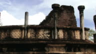 Ruins of the building in the city of Polonnaruwa, Sri Lanka. video