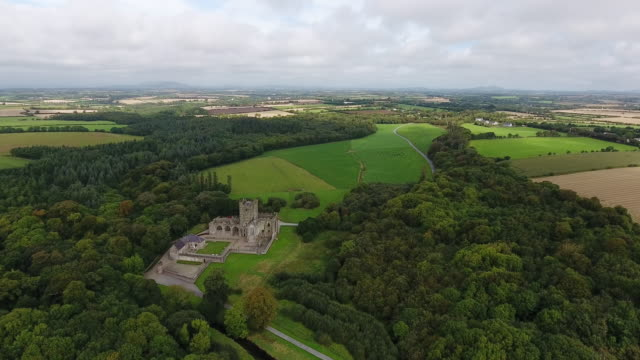 Ruins of Tintern Abbey in County Wexford Ireland video