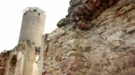 Ruins with watchtower of stronghold video