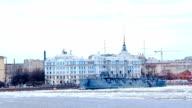 Сruiser Aurora. St. Petersburg. Russia video
