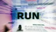 Run Button (White) video
