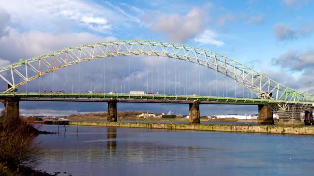 Runcorn Widnes Bridge, England video