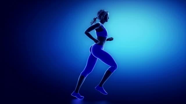 Runner ankle animation video