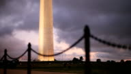 Runner by Washington Monument at Sunset video