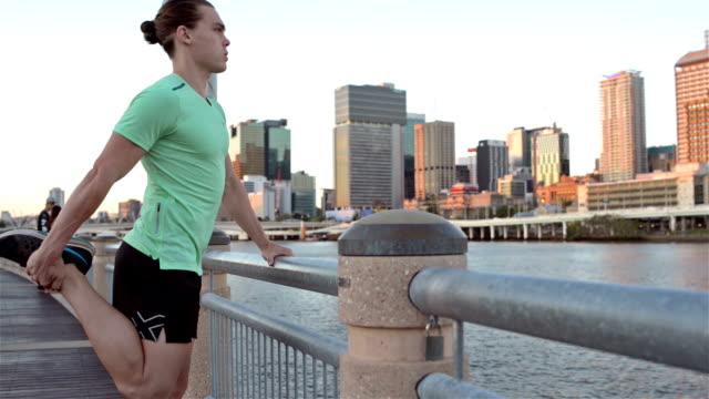 DOLLY SHOT: Runner in Brisbane South Bank video