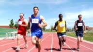 Runner in track race video