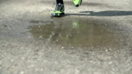 Runner melt in to the puddle while training video
