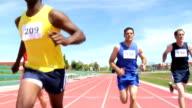 Runners cross the finish line video
