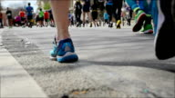 Runners legs in slow motion. video