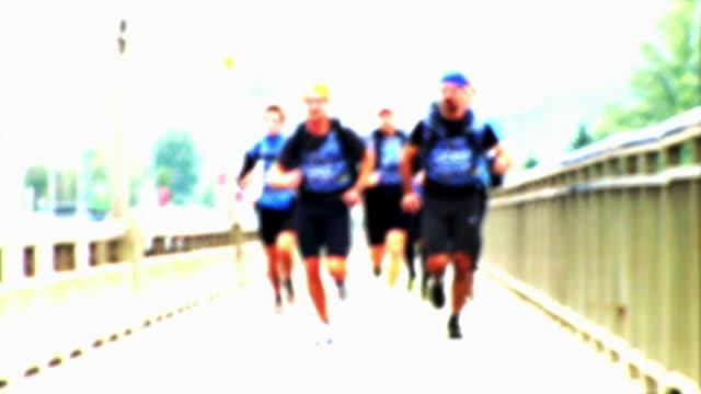 HD LOOP: Runners On The Bridge video