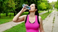 Running and Drinking Water During Training video