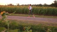 Running at Sunrise video