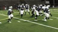 Running back gets hit. video